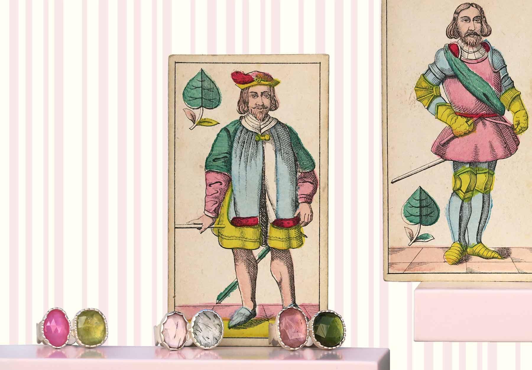 Schmuck Anne von Waechter - Ringe aus Silber mit Turmaline, Rubin, Rutilquarz